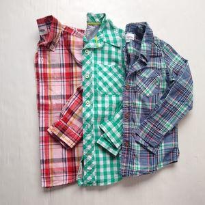 Boys button down plaid shirt bundle size 6